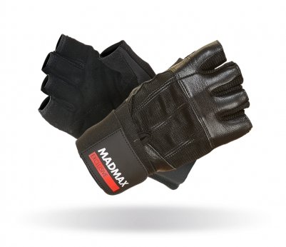 MADMAX Fitness rukavice PROFESSIONAL BLACK MFG269 exclusive black